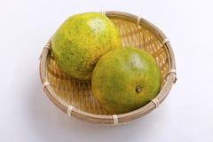 Two mandarin  oranges Stock Images