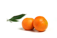 Two mandarins Stock Photos
