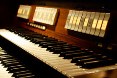 Two-manual organ keyboard Stock Image