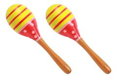 two maracas isolated on white Stock Photography
