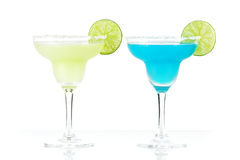 Two margarita alcohol cocktails Stock Photography