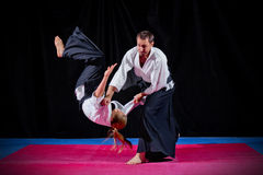 Two martial arts fighters Royalty Free Stock Image