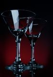 Two martini glass stay Royalty Free Stock Photos