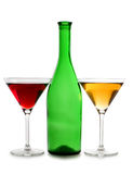 Two martini glasses Stock Image