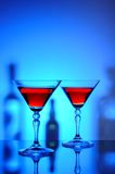 Two martini glasses with cocktail Royalty Free Stock Photography