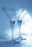 Two martini goblets Stock Photography