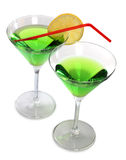 Two martini and lime Royalty Free Stock Image