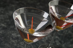 Two martinis on the bar Stock Photo