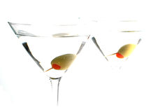 Two Martinis - High Key. Two martinis in high key on white background Stock Image
