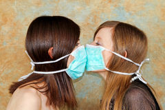 Two masks Stock Images