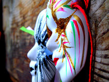 Two masquerade masks Royalty Free Stock Photos