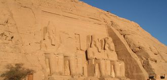 Abu Simbel Temples Aswan Egypt. Two massive rock temples a Abu Simbel Stock Photography