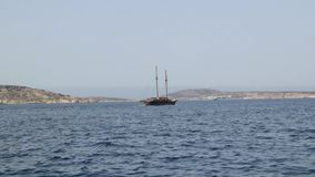 Two-masted boat Malta stock video