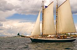 Two-masted sailboat Royalty Free Stock Photos