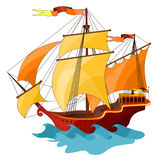 Two-masted sailing ship. Stock Image