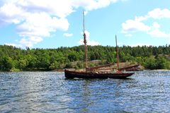 Two-masted sailing ship Royalty Free Stock Images