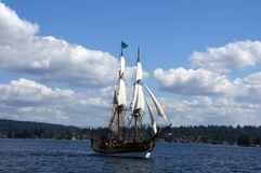 Two masted tall ship Royalty Free Stock Photos