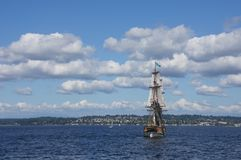 Two masted tall ship Stock Images