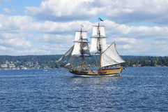 Two masted tall ship Stock Photo