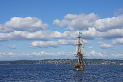 Two masted tall ship Royalty Free Stock Image