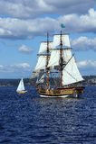 Two masted tall ship Royalty Free Stock Images