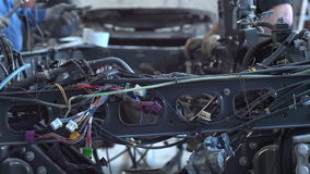 Two master truck repairs stock video footage