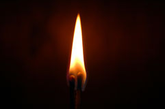 Two matches. Burning in the dark royalty free stock images