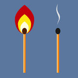 Two matches Stock Image