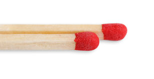 Two matchsticks. Royalty Free Stock Images