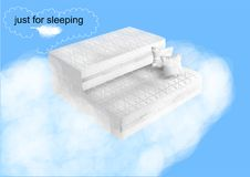 Two mattresses on blue Royalty Free Stock Photos