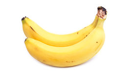 Two mature bananas Royalty Free Stock Image