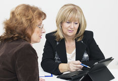 Two mature businesswomen Royalty Free Stock Photo
