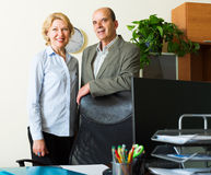 Two mature colleagues Stock Photo