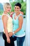 Two mature woman friends Stock Image