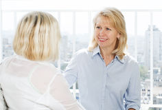 Two mature womens Stock Photography
