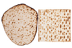 Two Matzah Types Stock Photo
