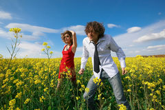 Two on meadow Royalty Free Stock Photography