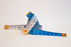 Two measurement tapes. Royalty Free Stock Image