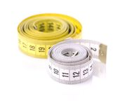 Two measuring tape Stock Image