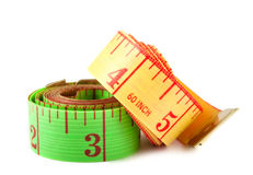 Two measuring tapes Royalty Free Stock Image