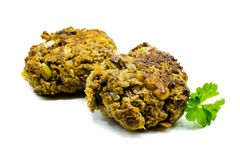 Two Meatballs isolated on white background stock images