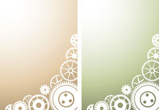 Two mechanical background with gears Stock Images