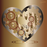 Two Mechanical heart image Royalty Free Stock Images