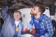 Two mechanics Royalty Free Stock Image