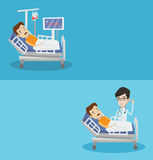 Two medical banners with space for text. Royalty Free Stock Image
