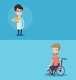 Two medical banners with space for text. Stock Image