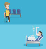 Two medical banners with space for text. Stock Photography