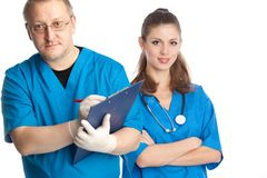 Two medical doctors Stock Photography