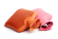 Two medical hot-water bottles. On a white background Royalty Free Stock Photos