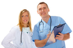 Two medical people Royalty Free Stock Images